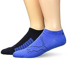 Puma Lifestyle Sneaker 2P, Calcetines hombre, paquete de 2, Gris (Navy/Grey/Strong Blue), 43-46
