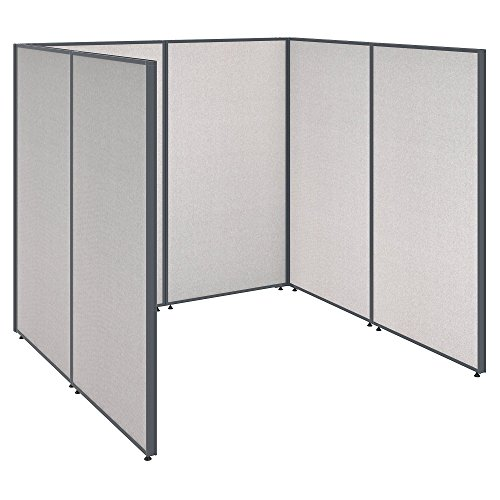 Bush Business Furniture ProPanels Single Open Cubicle Office in Light Grey