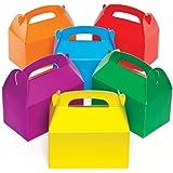 Scatole Regalo Colorate per Bambini da Decorare, Impreziosire e Riempire (confezione da 6)