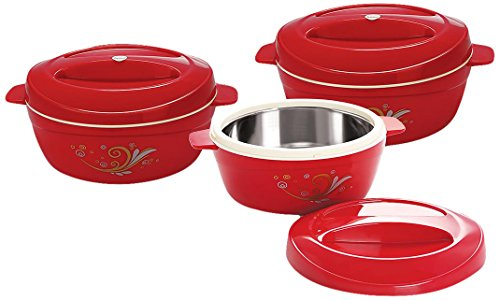Cello Alpha Casseroles Gift Set, 3 Pieces, Maroon