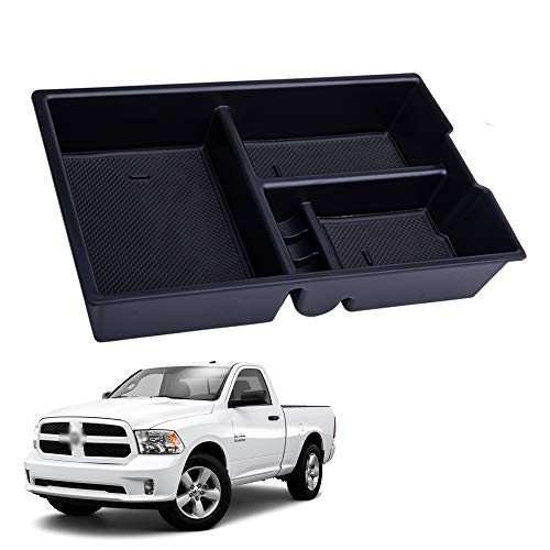 Center Console Organizer Compatible with Dodge Ram 1500 2500 3500 09-18, Sushiyi ABS Tray Armrest Box Secondary Storage for Ram 1500 2500 3500 (Full Console w/Bucket Seats ONLY)