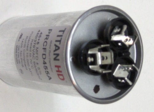 Room Air Conditioner Replacement Parts TitanHD PRCFD455A American-Made HVAC Round Motor Run Dual Capacitor. 45/5 by Air Parts