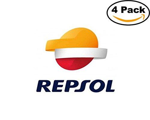 Gas Oil Company Repsol Logo1 4 Stickers 4X4 Inches Car Bumper Window Sticker Decal