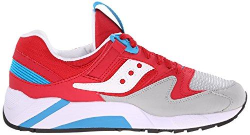 Originali Saucony Mens Griglia 9000 Sneaker Rosso / Grigio