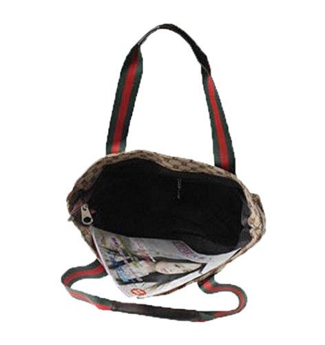 Celebrity progettista borsa a tracolla fantasia, tote bag e borsa da viaggio, colore marrone