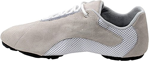Bundle Lightweight Very Fine Mens Womens Salsa VFSN016 Split Sole Dance Sneaker Shoes + Pouch White 14 M US