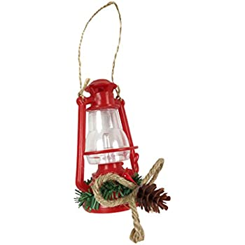 Amazon.com: Red Old Fashioned Lantern Christmas Tree ...