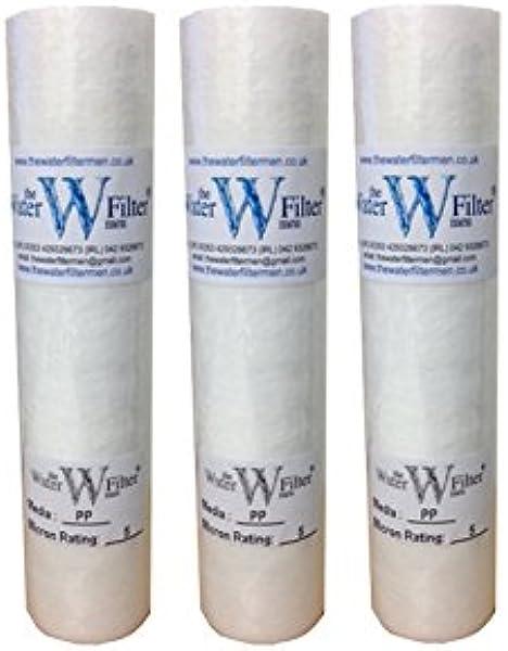 3 x 10 pulgadas PP Filtros de agua de sedimentos de 5 micras: Amazon.es: Industria, empresas y ciencia
