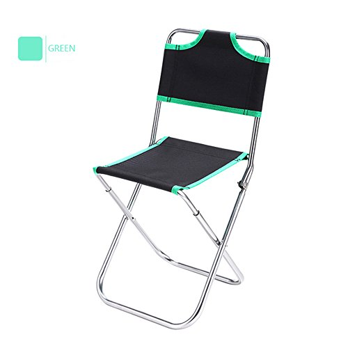 Timbers Youth Desk Chair (Ezyoutdoor Portable Folding Aluminum Oxford Cloth Chair Outdoor Fishing Camping with Backrest Carry Bag (Green))