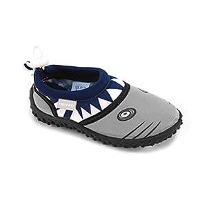Fresko Toddler Shark Water Aqua Shoes, T1028, Navy, 9 M US Toddler