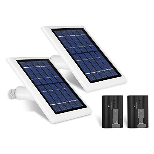 Solar Panel and Rechargeable Battery Bundle Compatible with Ring Spotlight Cam Battery and Ring Stick Up Cam Battery (2-Pack) – Zero Downtime for Your Ring Cameras