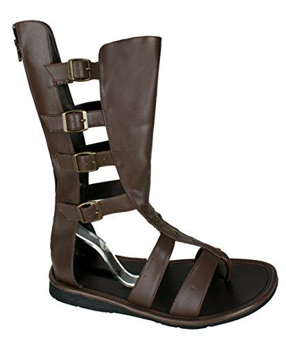 God Of War Boots Shoes Sandals Roman Warrior Cosplay Mens (Halloween Roman Sandals)