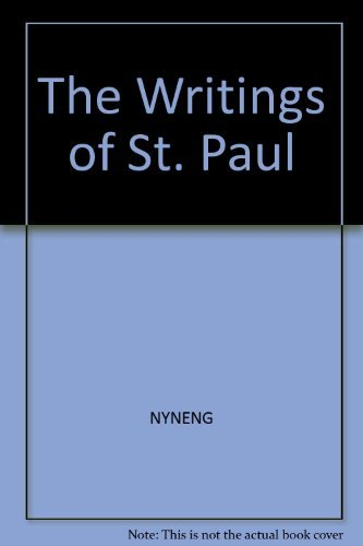 The writings of St. Paul (A Norton critical edition)
