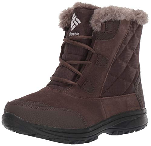 Columbia Women's ICE Maiden Shorty Snow Boot, Cordovan, Grey, 7.5 Regular US