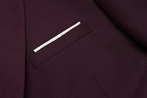 Hasuit Men's Casual One Button Slim Fit Stylish Blazer Coats Jackets Dress Suit by Hasuit (Image #6)