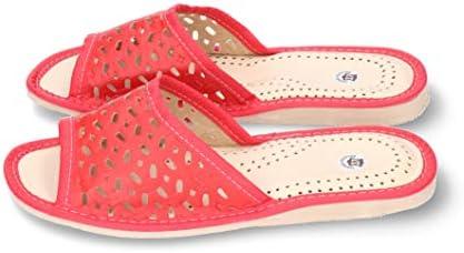 TEPU Ligero y C/ómodo Rojo Azul Marino Tallas: 36-41 Hecho a Mano en Polonia Zapatillas de Mujer Cuero Artificial