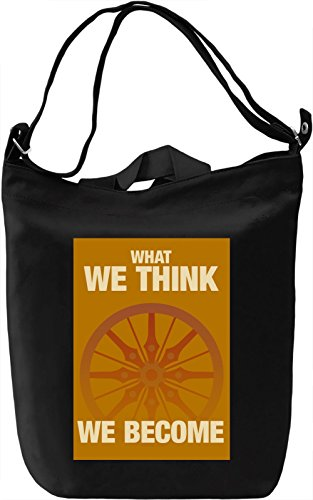 Buddha quote Borsa Giornaliera Canvas Canvas Day Bag| 100% Premium Cotton Canvas| DTG Printing|