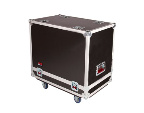 Gator Cases G-TOUR Series ATA Style Road Case for (2) QSC K12 Speaker Cabinets with Cable Storage and Heavy Duty 4