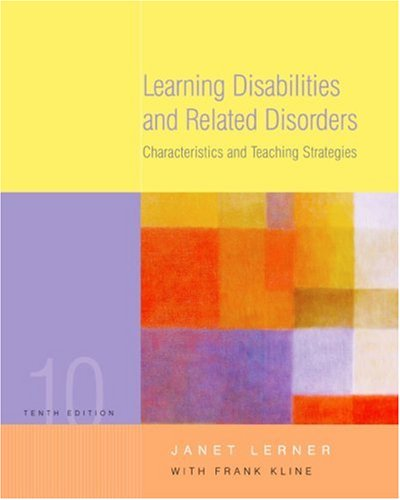 Learning Disabilities and Related Disorders: Characteristics and Teaching Strategies