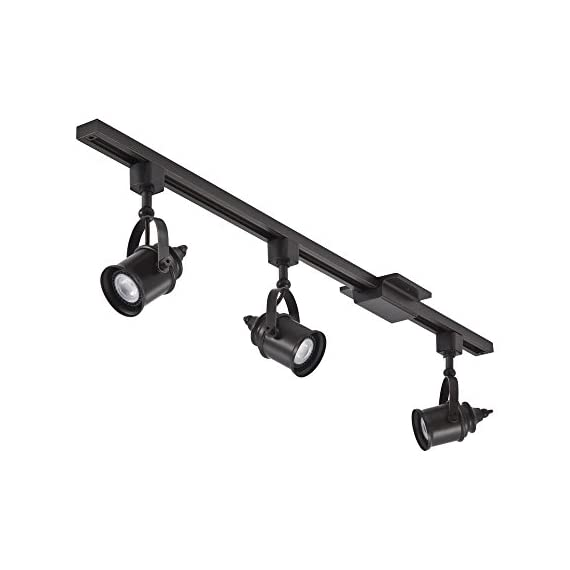 Lithonia Lighting LTKSPLT MR16GU10 2700K ORB M4 Adjustable 3 LED Spotlight Track Lighting Kit, 44.5-Inch, Oil-Rubbed Bronze, 300 Lumens, 120 Volts, 4 Watts, Dry Listed - ENERGY EFFICIENT - Uses energy efficient LED light bulbs to shine light on your desired area and save you money - provides 900 lumens DIMMABLE - Fully dimmable with compatible dimmer switches to create the perfect atmosphere ADJUSTABLE TRACK HEAD - Flexible track head can point almost anywhere - track heads rotate 350-degrees and has a 60-degree tilt - kitchen-dining-room-decor, kitchen-dining-room, chandeliers-lighting - 41VSuJwk2DL. SS570  -