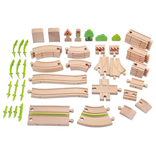 rack Set 60 pcs Track Expansion Pack - 100% Compatible with All Major Brands Including Thomas ()