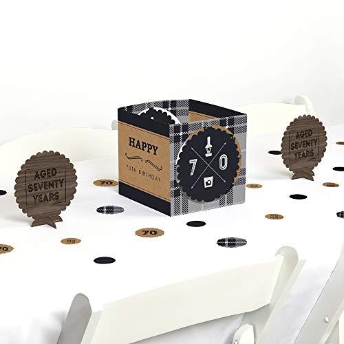 (70th Milestone Birthday - Dashingly Aged to Perfection - Birthday Party Centerpiece & Table Decoration Kit )
