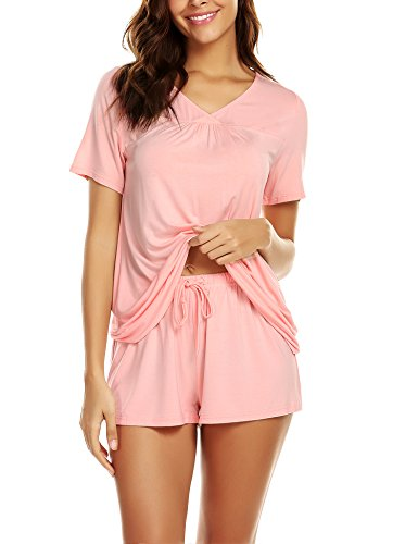 Pyjama Nightwear (Avidlove Women's Shorts Pajama Set Short Sleeve Sleepwear Nightwear Pjs S-XXL)