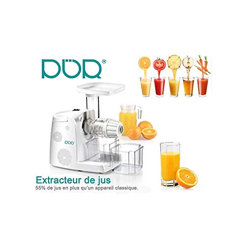 Juicer lento de exprimidor 80 RPM a jugo de frutas y verduras con ...