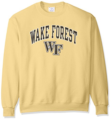 Champion Gold Crew Sweatshirt (NCAA Wake Forest Demon Deacons Men's Power Blend Fleece Crew Neck Sweatshirt, X-Large, Gold)
