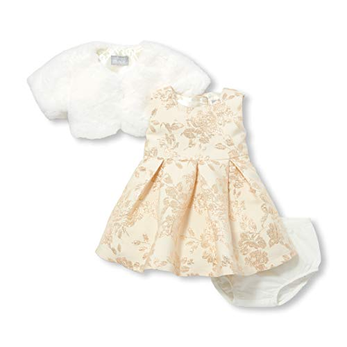 The Children's Place Baby Girls Special Occasion Dress, Snow, 12-18MOS