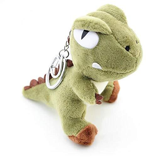 LApapaye Mini Dinosaur Keychain Stuffed Animal Plush Toy Gift for Kids Girlfriend Children,10cm (Green) (4' Bear Plush Keychain)