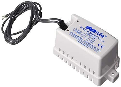 Rule 40A Rule-A-Matic Plus Bilge Pump Float Switch, 12, 24 or 32 Volt, Moisture Tight Seals , White , Small