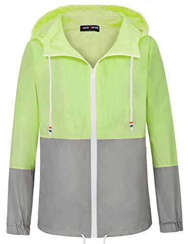 cling Jackets Lightweight Hoody(XL,Fluorescein+Gray 005) ()