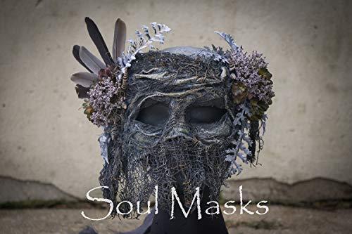 Sea Hag Halloween Costume (Witch Mask,Sea Hag Mask,Nature Mask,Halloween Mask,Woodland Mask,Pagan Mask,Scary Mask,Creepy Mask,Mardi Gras Mask,Costume,Halloween)