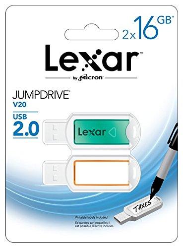 2 opinioni per Lexar JumpDrive V20 Flash Drive 2 Pack, 16GB, USB 2.0, Verde- LJDV20-16GABEU2