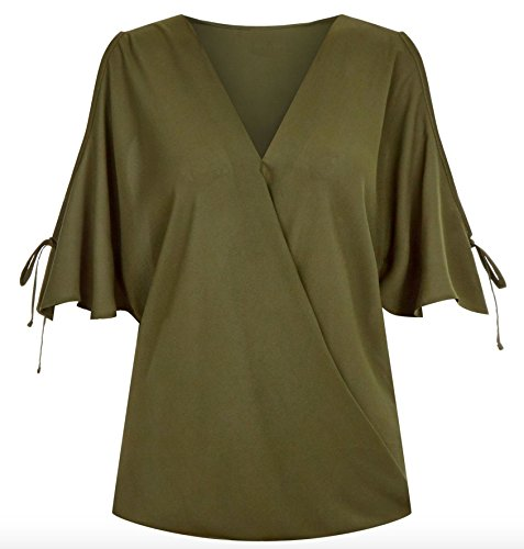不測の事態見る人スカウトElonglin シャツ レディース 短袖 おしゃれ 秋 Vネック 白 オフィス トップス きれいめ 肩だし 可愛い 大きいサイズ