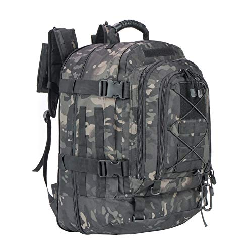 - GreenCity 3 Day Expandable Tactical Backpack Military Sport Hydration Bag 64L School Big Backpack Water Resistant for Outdoor, Travel, Camping, Hiking, Hunting, Business