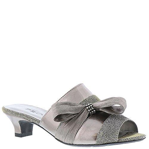 Proxy Womens Tiffney Open Toe Casual Slide Sandals Pewter