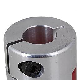 CNBTR Anti-oil 14x14mm Aluminum CNC Plum Coupling Flexible Shaft Coupler D30L40