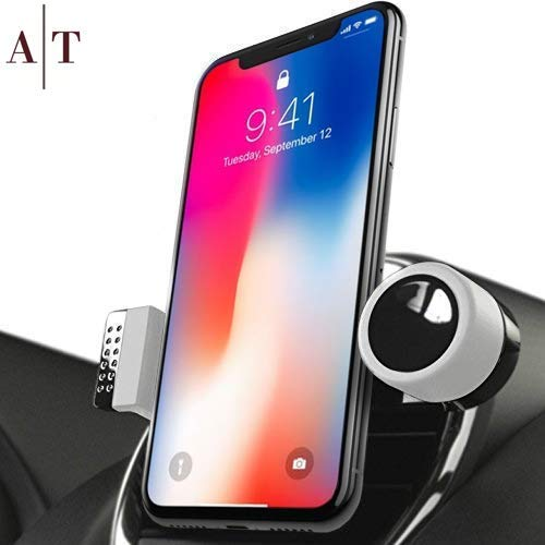 Cell Phone Holder for Car Air Vents | 360° Rotation Car Phone Mount, Fits All Smartphones - iPhone X, XR, XS Max, 8, 7, 6, 5, | 6/7/8 Plus | Galaxy S7, S8, S9, Note 9 | LG | Luxury Vent Phone Holder