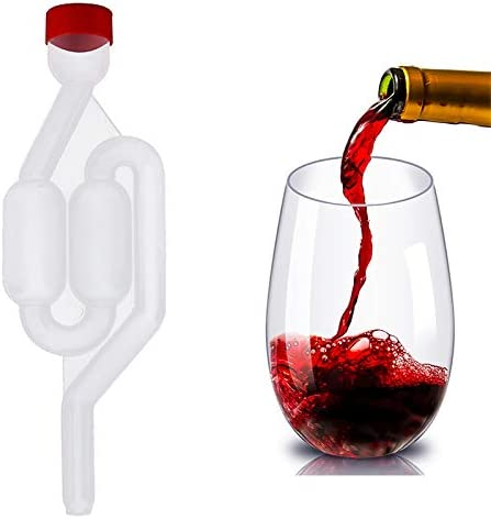 Haude Sigillo del Vino Valvola di Scarico Paglia Birra Fatta nel Casa Fermentazione del Vino Airlock Sigillato Air Lock Plastica Controllare Le Valvole Sigillate con Acqua Eco Friendly