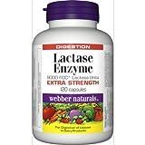 Webber Naturals Lactase Enzyme(9000FCC) Blister Packed, 120 caps