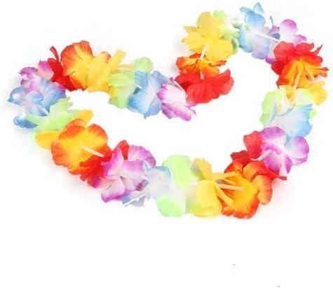 Collar de flores Hawaiana 10pcs accesorio de disfraz para Fiesta ...