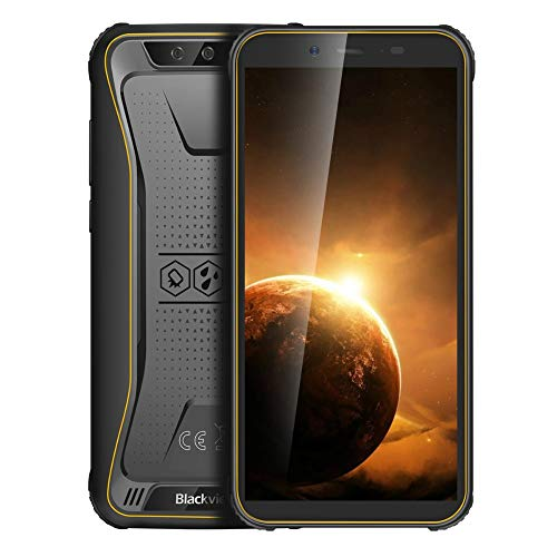 Blackview India Gadgets – BV5500 Plus Mobile Phone: Android 10: 5.5″ HD IPS Screen: Large 4400mAH Battery: IP68 Waterproof Drop Proof Rugged Smartphone (Yellow)