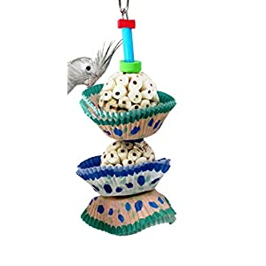 Bonka Bird Toys 1932 2Cake Bird Toy Foraging Parrot cage Toys Cages Shred Cockatiel African Grey 14