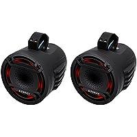 (2) Hifonics TPS-CP80 8 180 Watt Marine Boat Wakeboard Tower Speakers w/LEDs