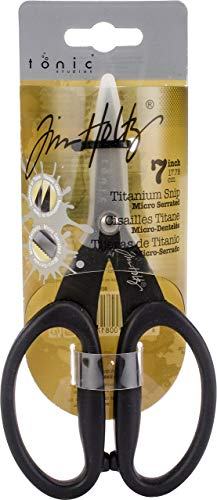 Dragonfly Mini Stamps - Tonic Studios Tim Holtz 817 Kushgrip Non Stick Micro Serrated Snips, 7