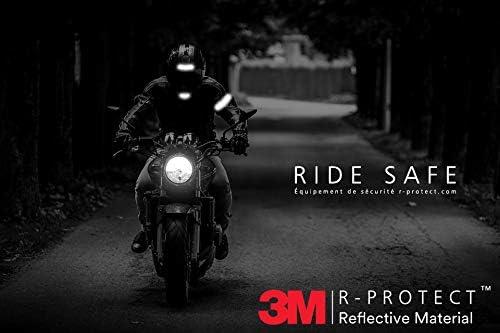 Kit 6 Bandes Stickers Autocollants r/étro r/éfl/échissants pour Casque Moto Premium Series R-Protect Black/™ Technologie 3M Scotchlite/™