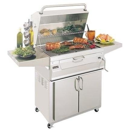 Fire Magic Legacy 24SC01C61 Stand Alone Charcoal Grill with Smoker Oven/Hood - Fire Magic Charcoal Oven