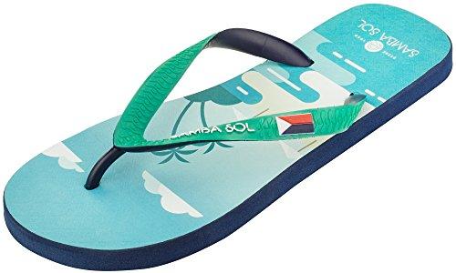 Samba Sol Menns Flagg Samling Flip Flops - Moderne Og Komfortabel. Trendy Og Klassiske Sandaler For Menns. Saint Martin